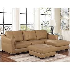 Beige Leather Living Room Set Chelsie Top Grain Leather Chaise Sectional And Ottoman Living Room Set