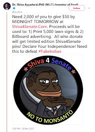 Shiva Meme - dr shiva embraces meme magic to replace pocahontas in the u s