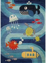 tapis chambre d enfants tapis moelleux pour chambre d enfant aquatique bleu de la collection