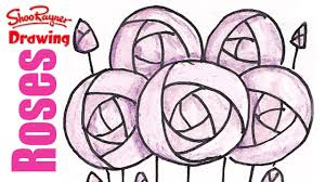 how to draw art deco roses youtube