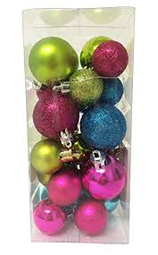 pink and green ornaments