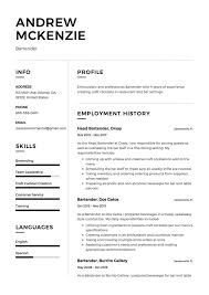 free bartender resume templates bartender resume templates beautiful template