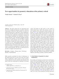 new opportunities in geometry education at the primary pdf