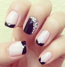 trendy rhinestone nails designs for girls 2017 nail art