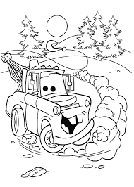 coloring pages drifting cars tow mater drifting coloring pages color
