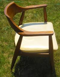 Mid Century Modern Danish Chair Wood Mid Century Modern Danish Modern Vintage Walnut U0026 Vinyl Chair