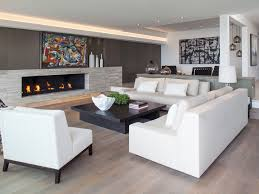 contemporary living room furniture table lamps recessed wall