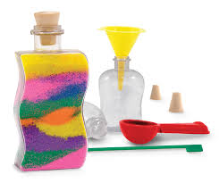amazon com melissa u0026 doug sand art bottles craft kit 3 bottles