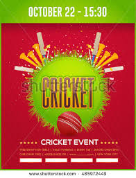 free event poster templates cricket event poster template vector background stock vector