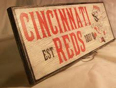 Cincinnati Reds Home Decor | cincinnati reds wall art reds baseball sign by antsydesigns 15 00