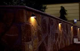 solar retaining wall lights cinder block fence lights google search courtyard pinterest