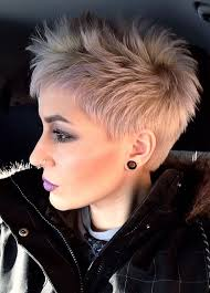 razor cut hairstyle with spiky on top 25 fantastic razor cut hairstyles images sheideas