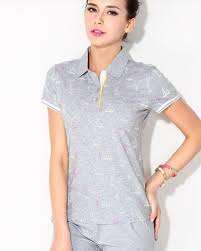 sailboat printed cheap polo shirts for girls plus size short