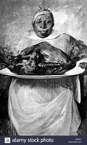 images of a thanksgiving dinner 1880s illustration of african american woman cook holding platter