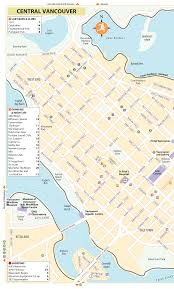 Vancouver Canada Map by Rg B Format