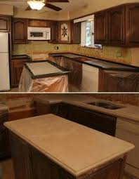 Diy Kitchen Countertops Kitchen Countertop Makeover Countertop Makeover Concrete And