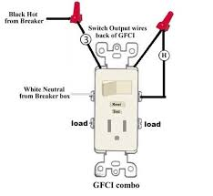 gfci switch outlet combo wiring wiring diagrams schematics