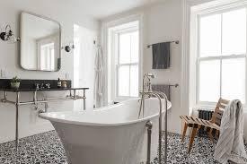 Concrete Floor Bathroom - black and white concrete floor tiles design ideas