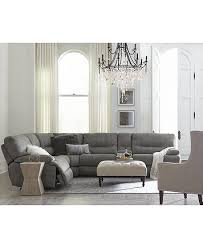Fabric Sectional Sofas Closeout Liam Fabric Power Reclining Sectional Sofa Collection