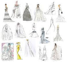 drawn costume famous fashion designer pencil and in color drawn