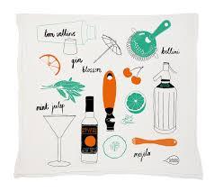 cocktail illustration cocktail tea towel claudia pearson illustration