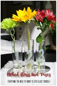 Challenge Vase Etched Glass Bud Bases My From Home