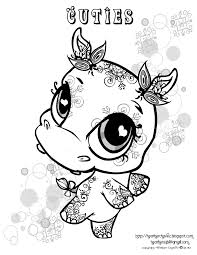 baby hippo coloring pages cute ba hippo animal coloring page for