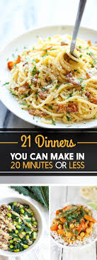 plats rapides à cuisiner 21 dinners you can in 20 minutes or less aller zouh