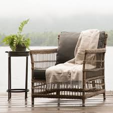 Wicker Lounge Chair Design Ideas Trellis Weave All Weather Wicker Lounge Chair Myrtle Design