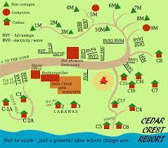 Maps For Directions Cedar Crest Resort Location