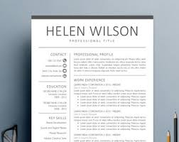 Resume Templates For Mac Resume Template Etsy