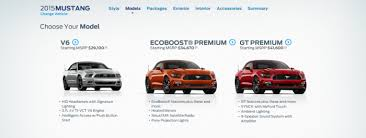 different mustang models 2015 ford mustang configurator is live the wheel