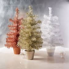 tinsel trees west elm