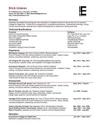 Resume Format For Experienced Production Engineers Download Post Production Engineer Sample Resume