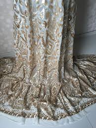 tulle for sale hot sale white net lace fabric with gold sequins wedding lace