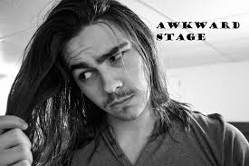 wavy long hair awkward stage men dealing with the awkward stage men s long hair youtube