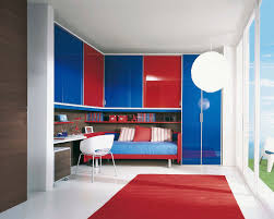 modern kids bedroom design decorating ideas with bunk beds and red