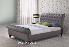 Velvet Sleigh Bed Items In Pristine Beds Shop On Ebay