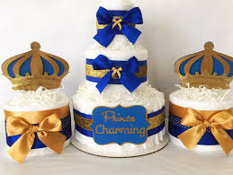 royal prince baby shower favors prince charming cake in royal blue and gold prince theme