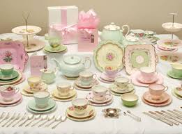vintage tea set high tea hire service perth antiquitea