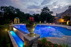 Colored Landscape Lighting Lights Fiber Optic Pools Led Landscape Lighting Design Nj