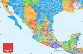 political map of mexico political simple map of mexico