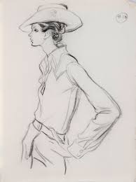 see a treasure trove of vintage fashion illustrations that are