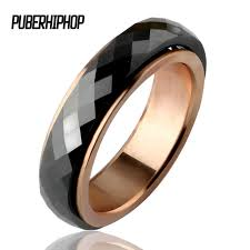 ceramic gold rings images Fashion gold men ring stainless steel black health ceramic rings jpg