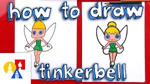 draw cartoon tinkerbell