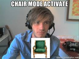 Meme Chair - pewdiepie meme thing mr chair by snakehands on deviantart