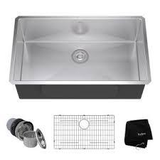 Kitchen Sink Stainless Steel by Kohler Prolific Undermount Stainless Steel 33 In Single Basin