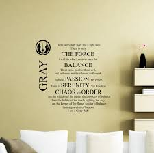 yoda wall decal etsy star wars wall decal gray jedi code quote vinyl sticker the force balance passion serenity poster