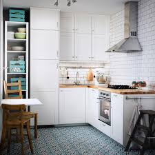 ikea kitchen cabinets reddit a small white kitchen with an oak worktop combined with
