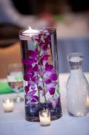 Orchid Centerpieces Diy Submerged Orchid Centerpiece With Floating Candle Wedding